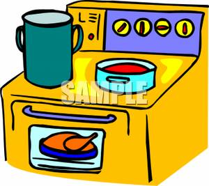 Animated stove clipart.
