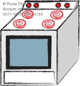 Oven Or Stove In a Kitchen.
