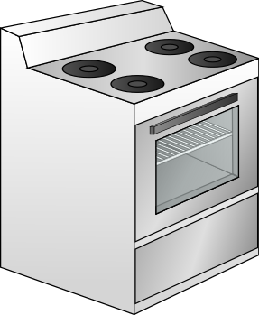 Free Kitchen Stove Clipart, 1 page of Public Domain Clip Art.
