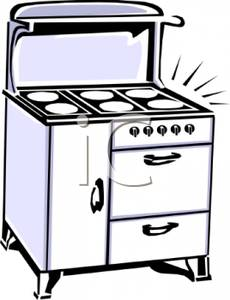 Free Clipart Image: A Large White Kitchen Stove and Oven.