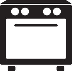 Oven Clipart Oven bw.