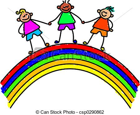 Over the Rainbow Clip Art.