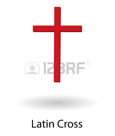 262 White Latin Cross Stock Vector Illustration And Royalty Free.