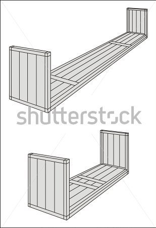 Flach Rack/aufmaß/over Dimensional Cargo Container Strichzeichnung.