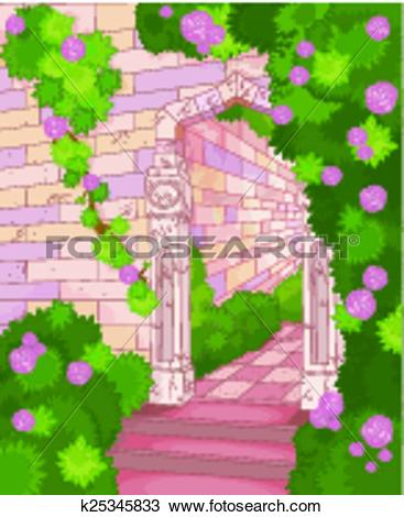 Clipart of Overgrown house k25345833.