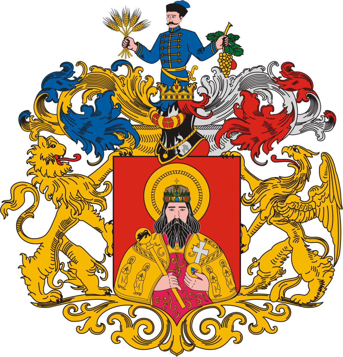 Coat of arms of Miskolc.
