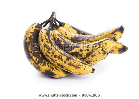 Overripe Bananas Stock Photos, Royalty.