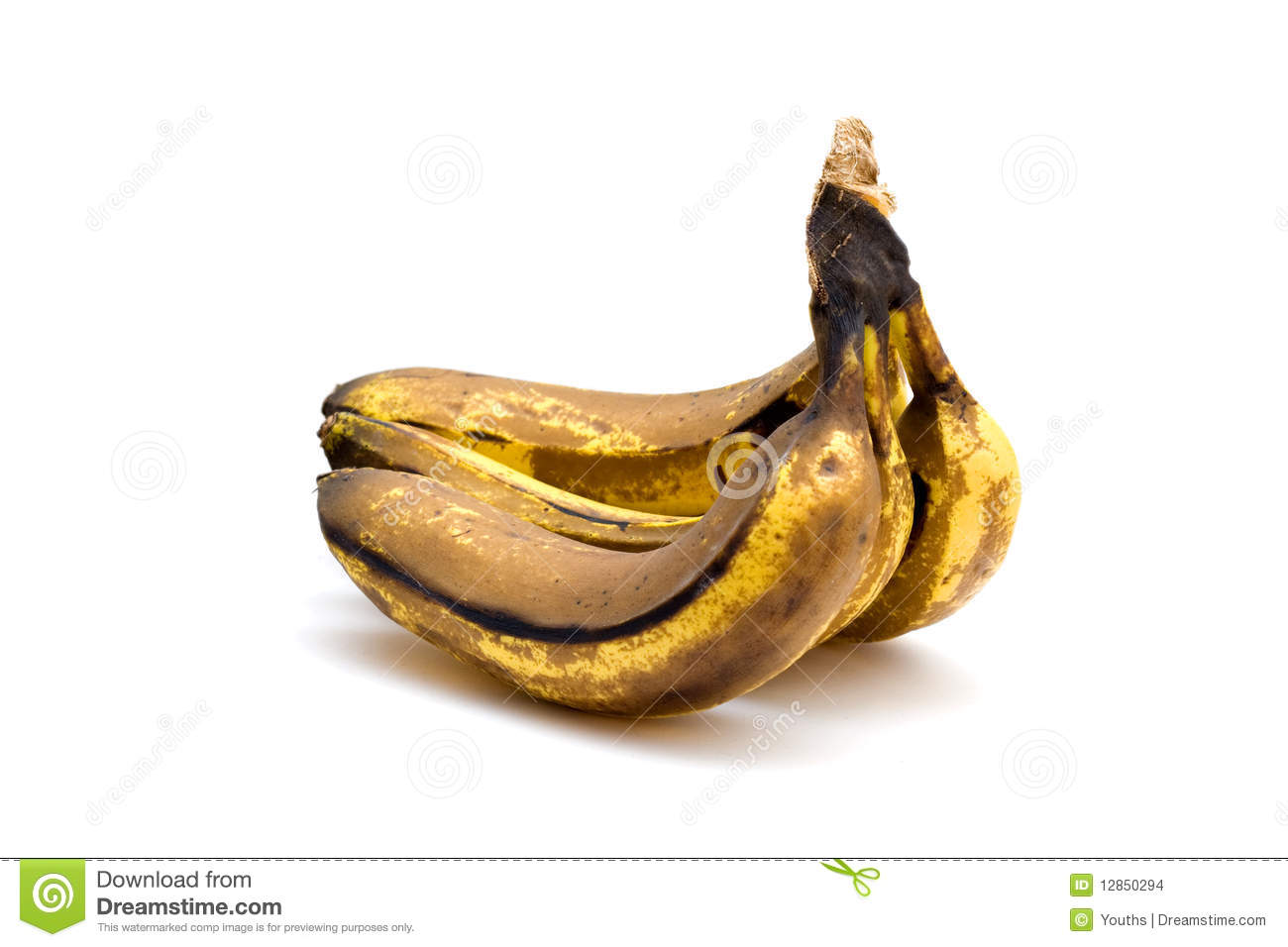 Cluster Of Over Ripe Bananas Royalty Free Stock Photo.
