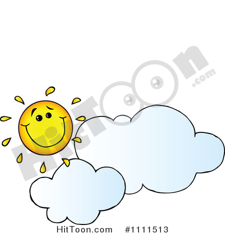 Partly Sunny Clipart #1.