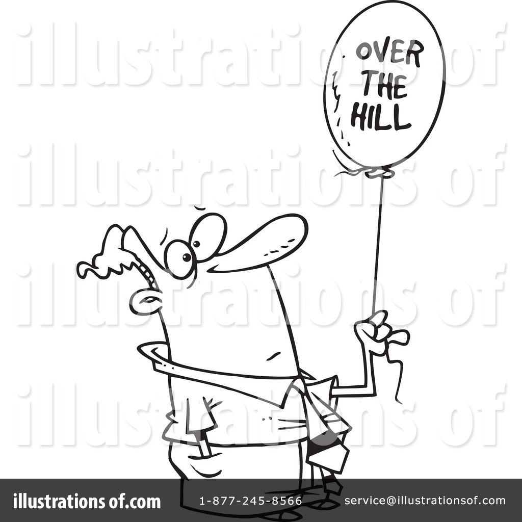 Over The Hill Clipart #1044597.