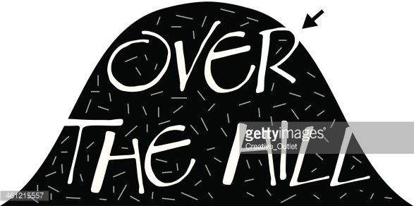 Over The Hill Heading premium clipart.