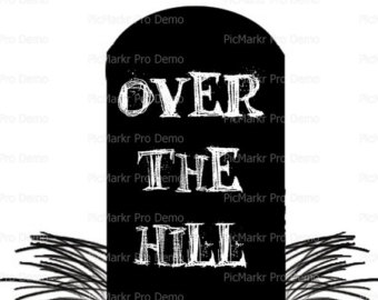 Over The Hill Tombstone Clipart.