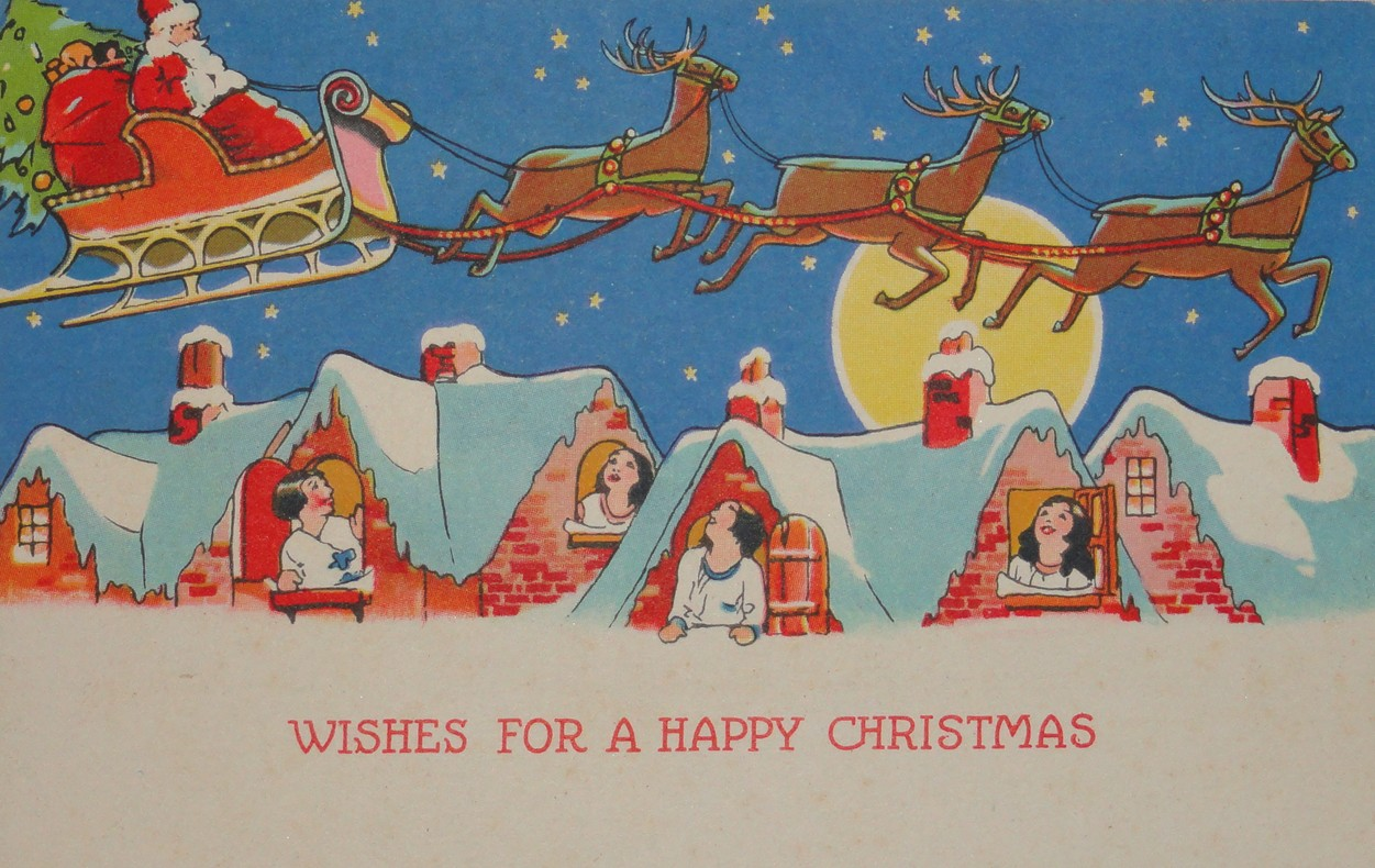 Free Clipart N Images: More Free Christmas Themed Vintage Images.