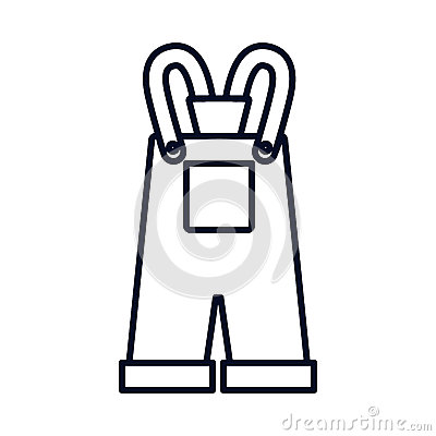 Baby Overall Stock Vector.
