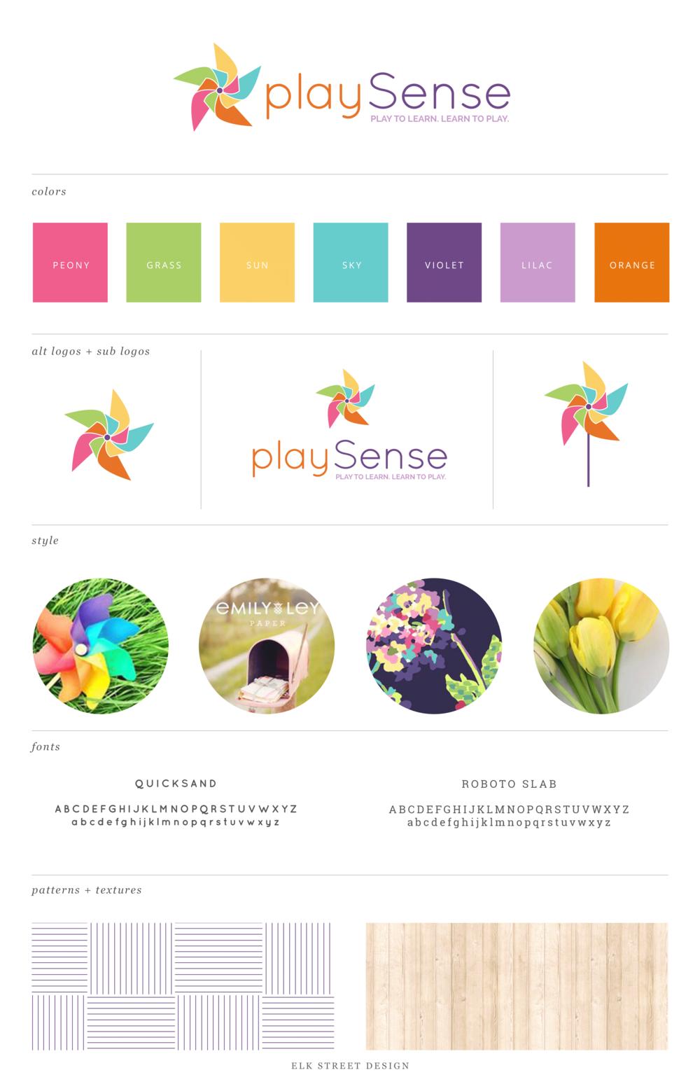 Brand Design: playSense — Elk Street Design.