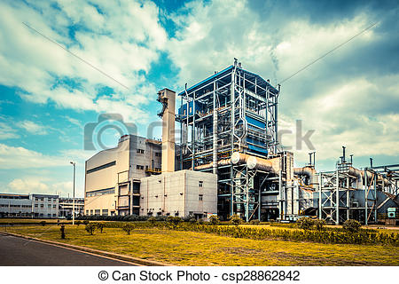 Stock Photo of overall view of steel factory csp28862842.