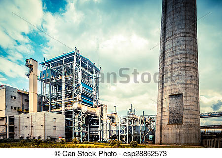 Picture of overall view of steel factory csp28862573.