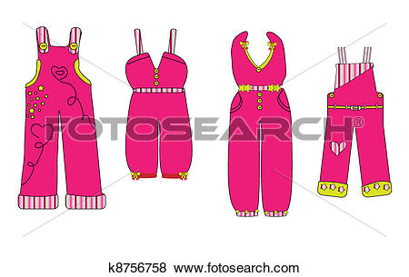 Clip Art of overall. clothes for baby vector k8756758.