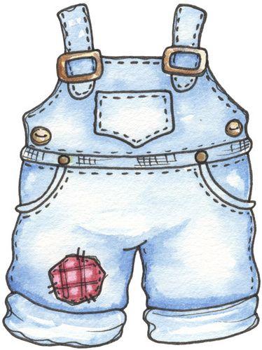 Bib overalls clipart.