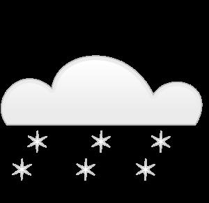 overcloud snowfall Clipart, vector clip art online, royalty free.