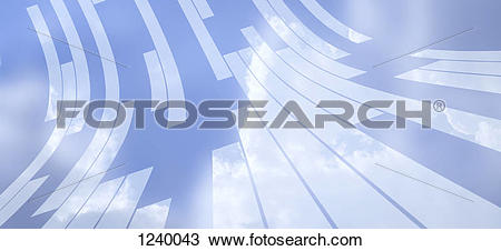 Stock Photo of Abstract arrangement of various rectangular shapes.