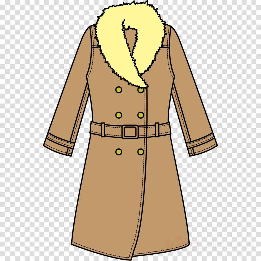 clothing outerwear coat overcoat sleeve clipart.