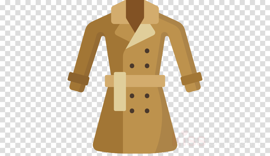 clothing trench coat coat outerwear overcoat clipart.