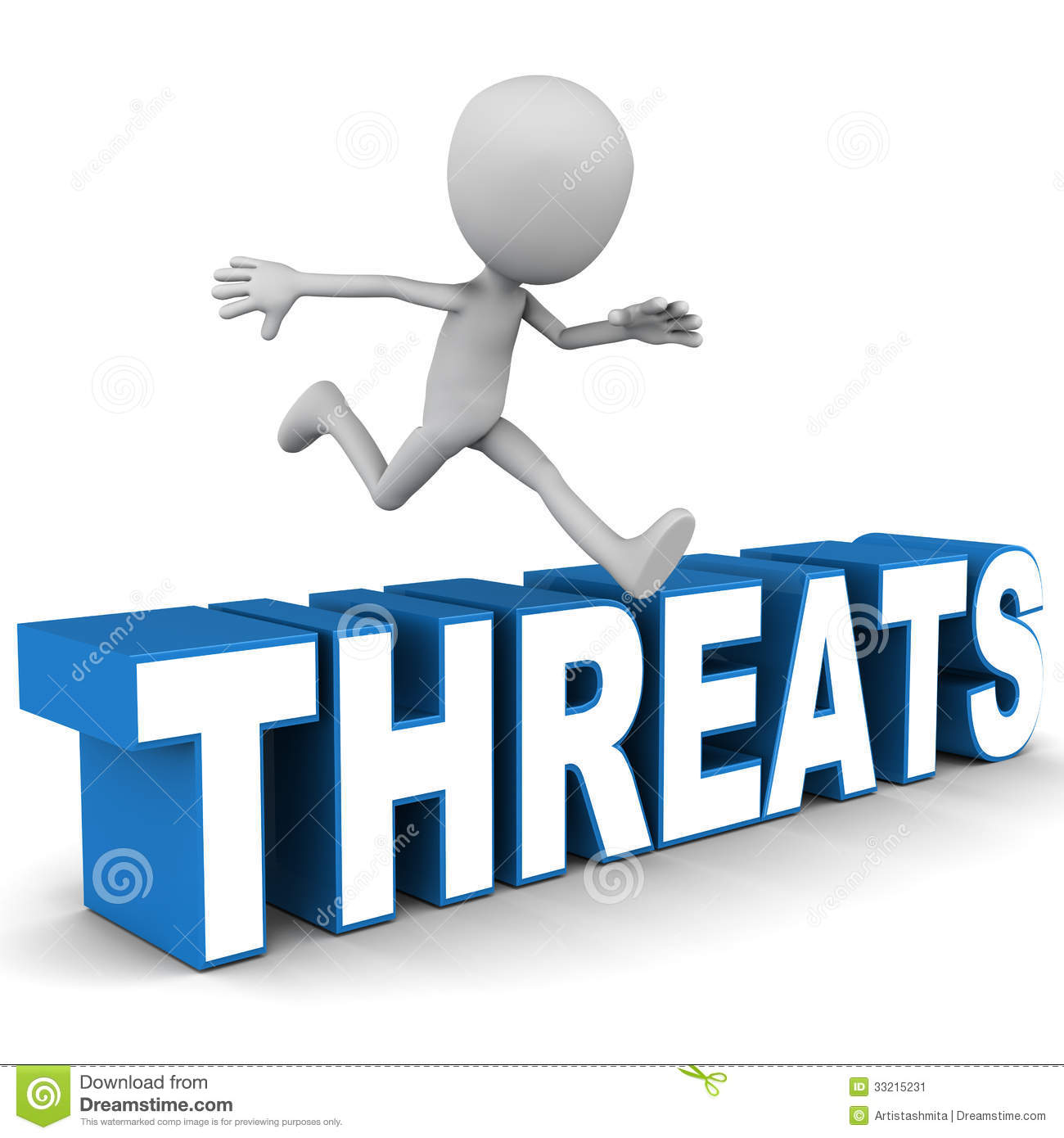 Overcome threats concept.