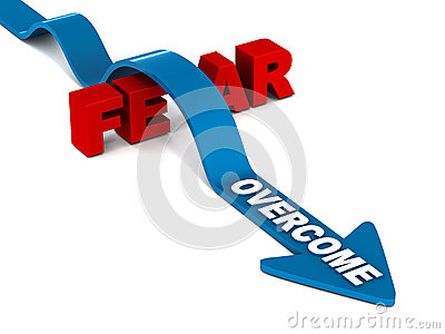 Overcome Fear Stock Illustrations.