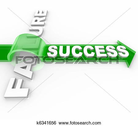 Stock Illustration of Success Vs Failure.