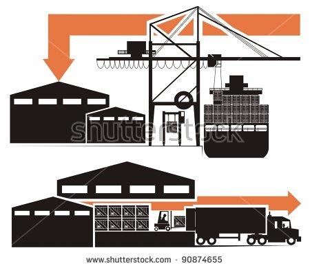 Flat Rackoversizeoverdimensional Cargo Container Line Drawing.