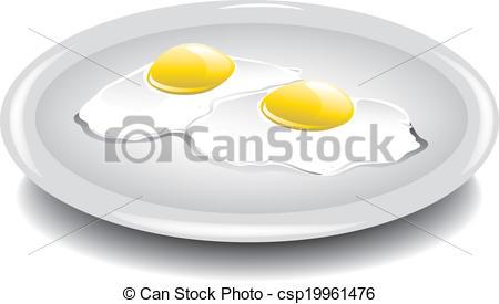 Vectors Illustration of Eggs over easy.