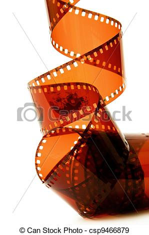 Stock Photographs of Old camera film strip.