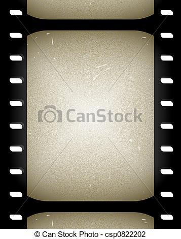 Clip Art of old film.
