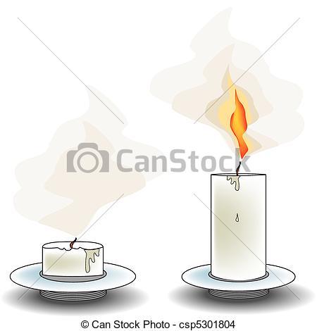 EPS Vector of burning extinguished overhang. Vector illustration.