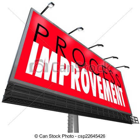 Clip Art of Process Improvement Procedure System New Overhaul.