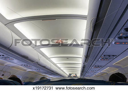 Stock Photography of Overhead bins in Airplane x19172731.