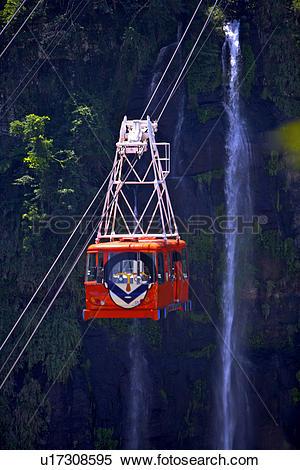 Stock Image of Asia, Taiwan, Taipei, overhead cable car u17308595.