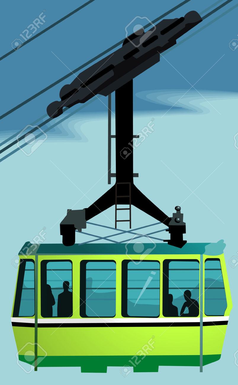 Overhead Cable Car, Royalty Free Cliparts, Vectors, And Stock.