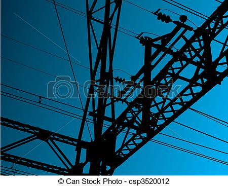 Vector Illustration of Electrical background.