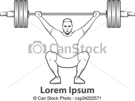 Vectors Illustration of crossfit weightlifting logo.