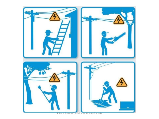 Overhead and underground power lines worker safety.