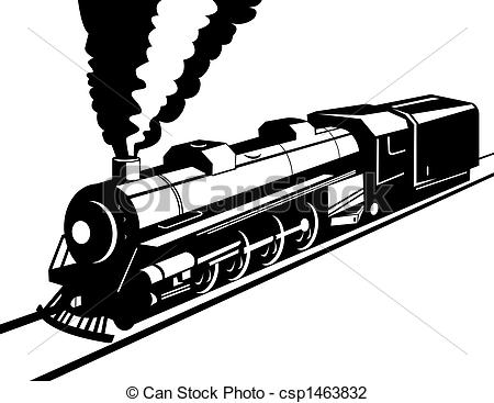 Clip Art of Steam train.