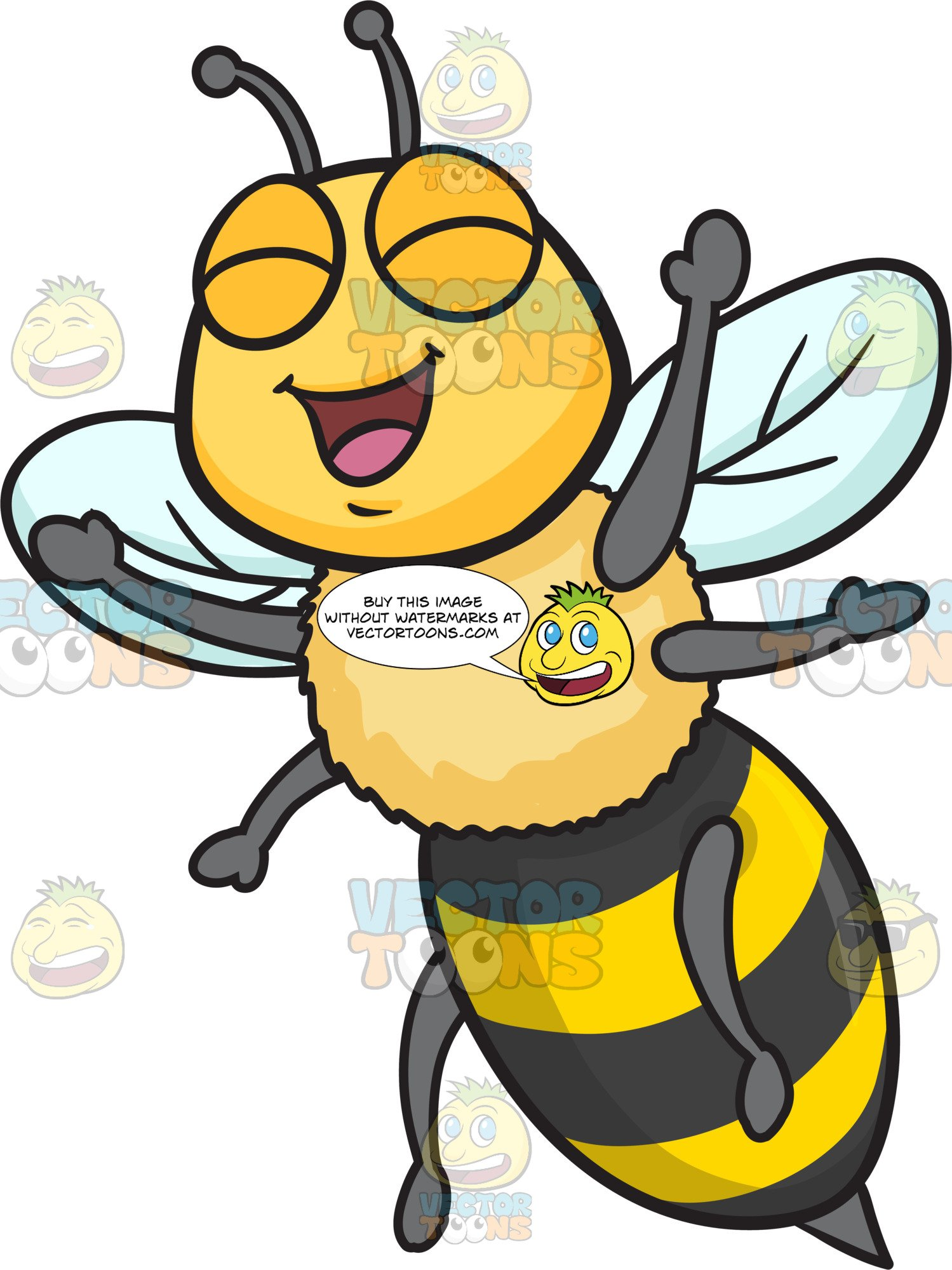 An Excited And Overjoyed Bee.