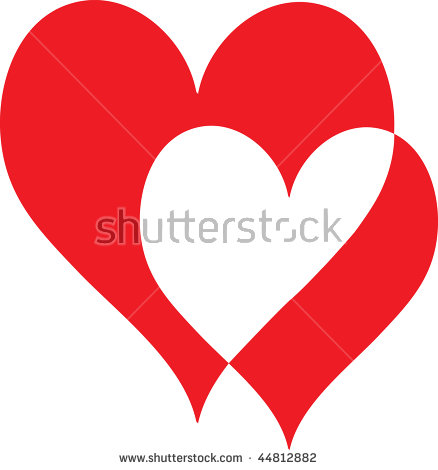 Overlapping Hearts Stock Photos, Royalty.