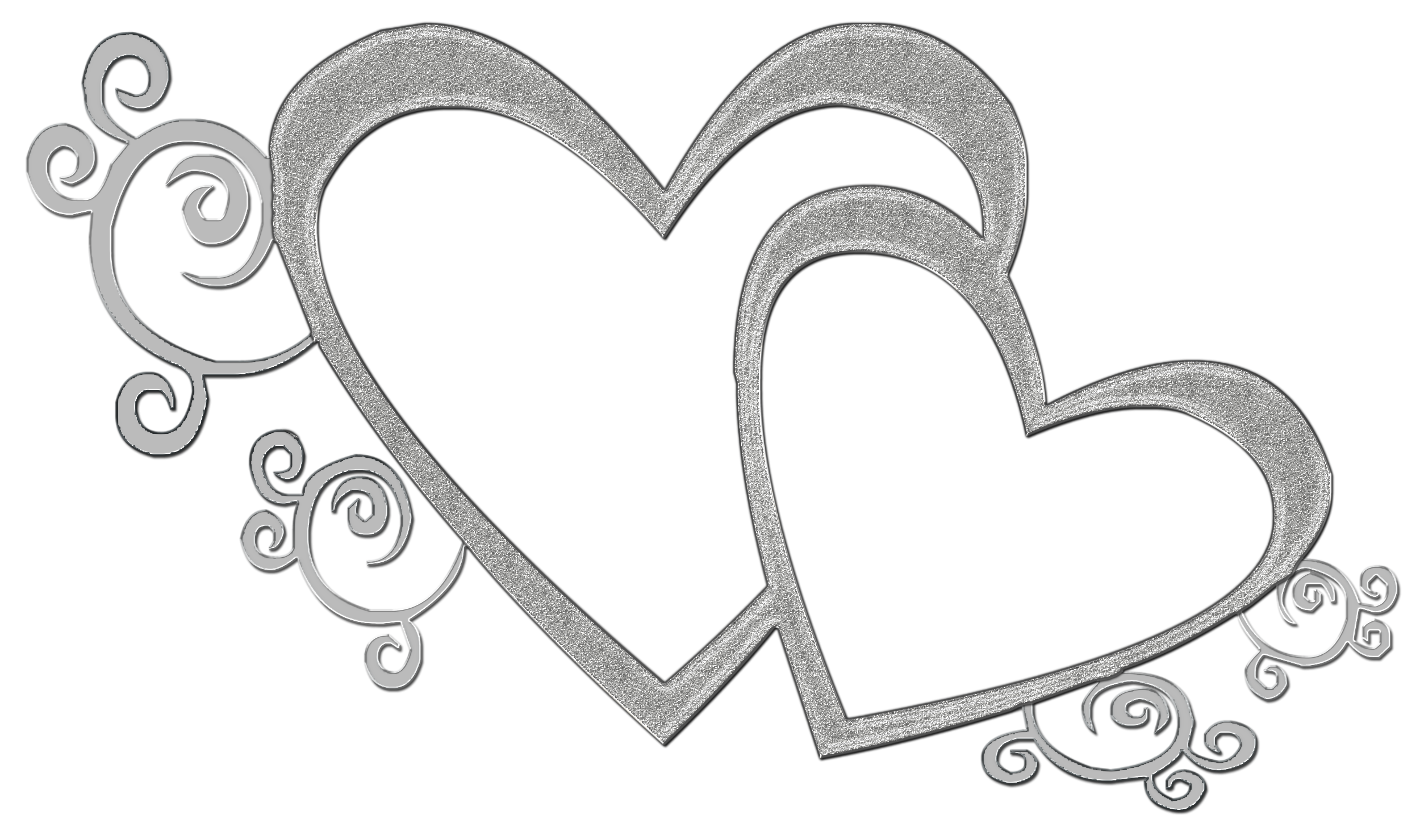 Two Hearts Overlap Clip Art.