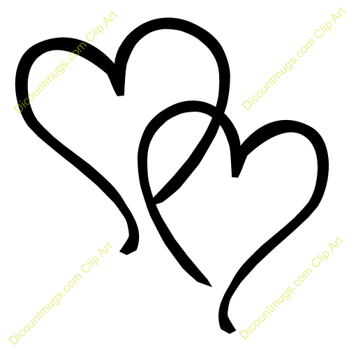 Double hearts clipart 1 » Clipart Station.