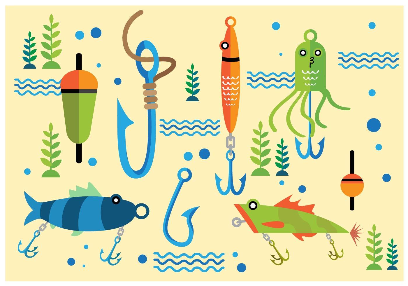 Fish Hook Free Vector Art.