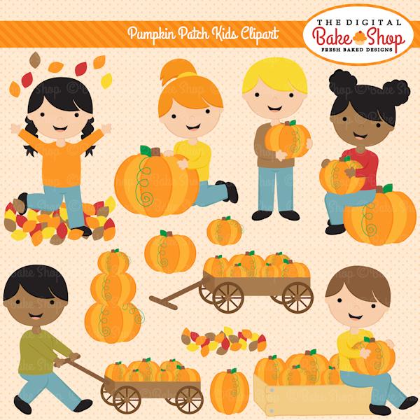 Pumpkin Patch Kids Clipart.