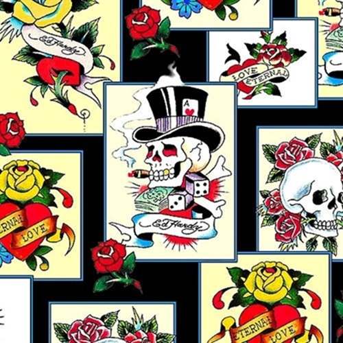 Ed Hardy Love is True Overlapping Patches from by meanderingthread.
